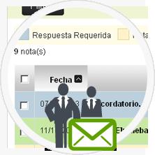 Agenda para envío de notas entre usuarios y trabajadores